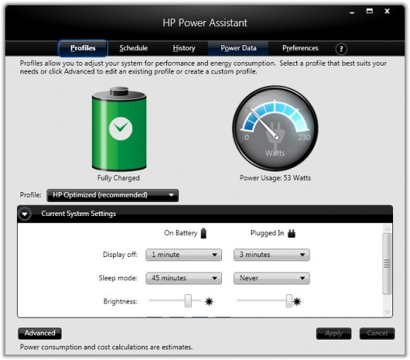hp-power-assistant-power-usage-meter